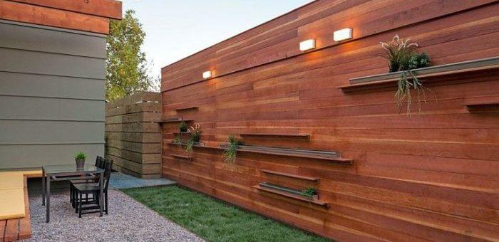20 современных деревянных заборов